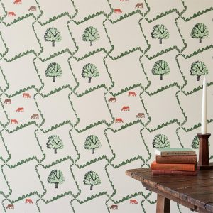 Edward Bawden Tree And Cow Wallpaper